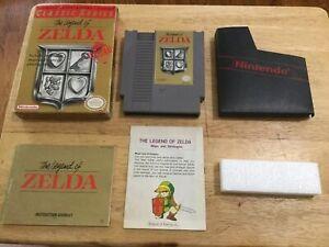 ZELDA-NES-Nintendo-GOLD-Game-Original-BOX-Complete-CIB-Instruction-Manual-MAP