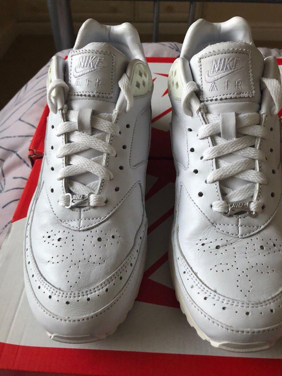 Nike max classic cuoio bianco, edizione limitata di