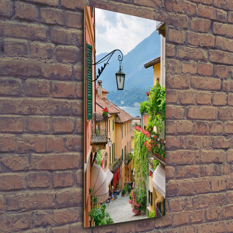 Wand-Bild Kunstdruck aus Hart-Glas Hochformat 50x125 Italienische Straßen