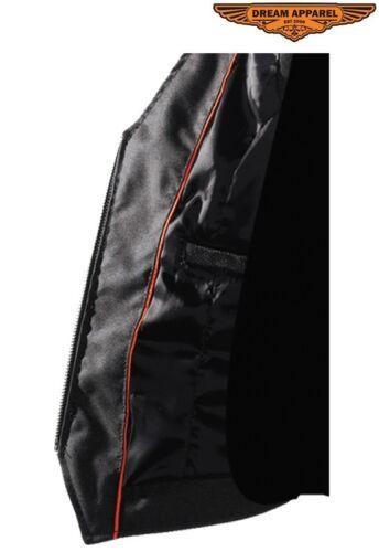 Med 1 Pocket Inside Motorsykkel Kvinders lynlås Gun Backlaces Biker Vest BnBwPg1q
