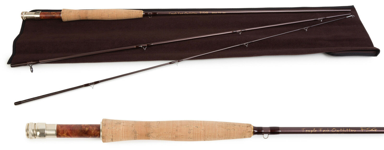 Temple Fork Finesse Glass Fly Rod 4-5 wt. 7'6  3 pc.