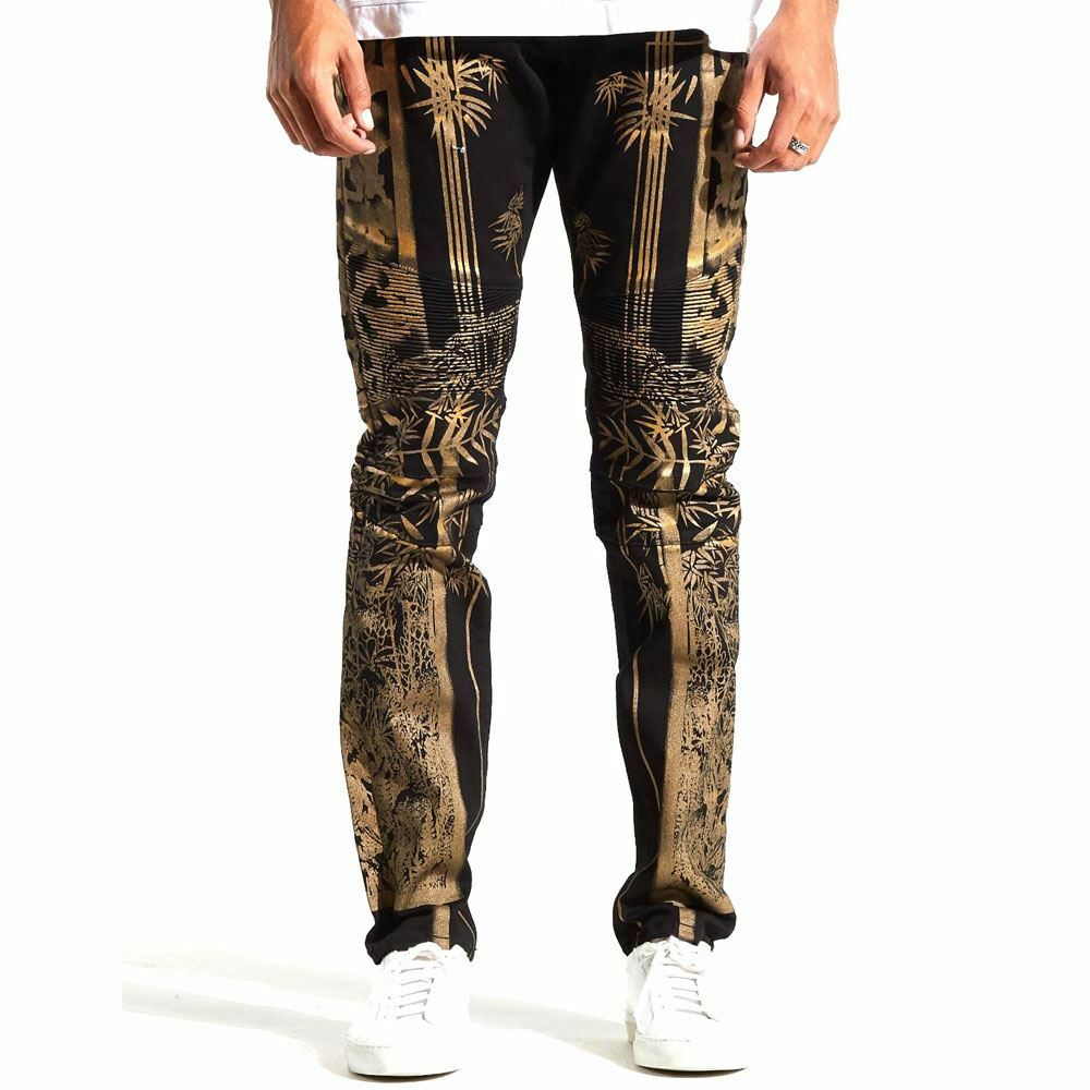 Embellish Phoenix Denim Jeans blackes gold