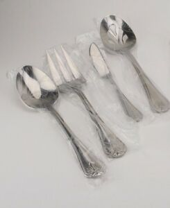 Reed-amp-Barton-Greenbrier-18-10-Stainless-Flatware-Serving-Fork-New