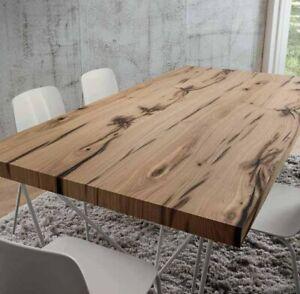 Tavoli Soggiorno In Legno.Tavolo Da Pranzo Denis Piano In Legno Rovere Antico Base In