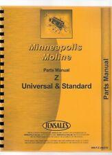 Minneapolis Moline Z Ztn Zts Ztu Tractor Parts Manual Catalog Early