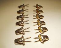 Twist Fastener Turn Button Stud Self-tapping Wood Screw 5/8 - 12 Pcs