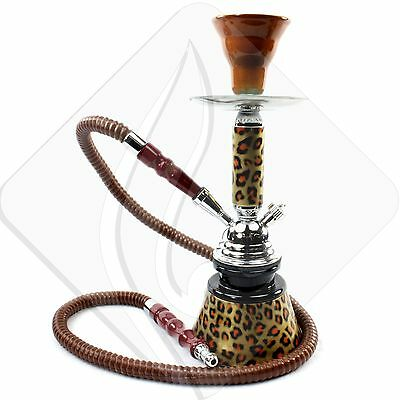 "GSTAR 11"" Cheetah Brown 1 Hose Hookah Hooka Shisha Narghile Tobacco Free"