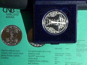 2004-Czech-Republic-200-Korun-Silver-Proof-Coin-Jakub-Krcin-Czechoslovakia-KC