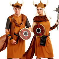 Viking Fancy Dress Adults Medieval Book Week Historical Ladies Mens Costume