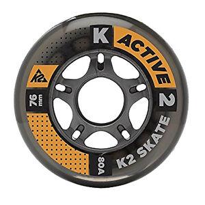 K2-Rollers-en-ligne-ROULEAUX-LOT-4-piece-76mm-80A-pour-patins-Fitness-SKATING