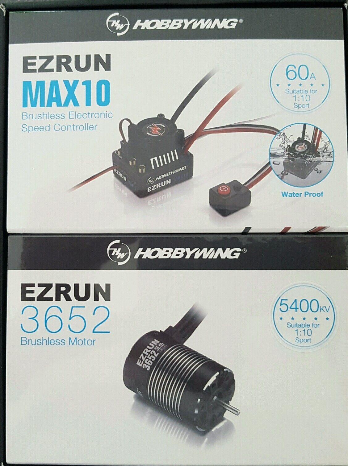 Hobbywing MAX10, 60 Amp A Prueba De Agua Esc 5400KV Motor Combo Genuino Y Sellado