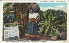 ca.1930's postcard - A Mexican Criada, House Servant