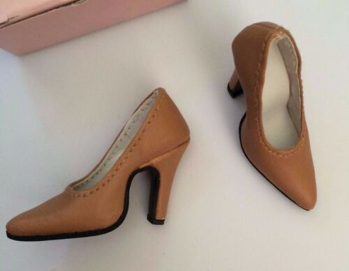 """TAN Doll Shoes GENUINE LEATHER High Heel Pumps fit Ellowyne Tyler Candi 16/"""" NEW"""