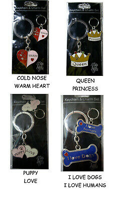 Queen and Princess Dog Charm /& Keychain