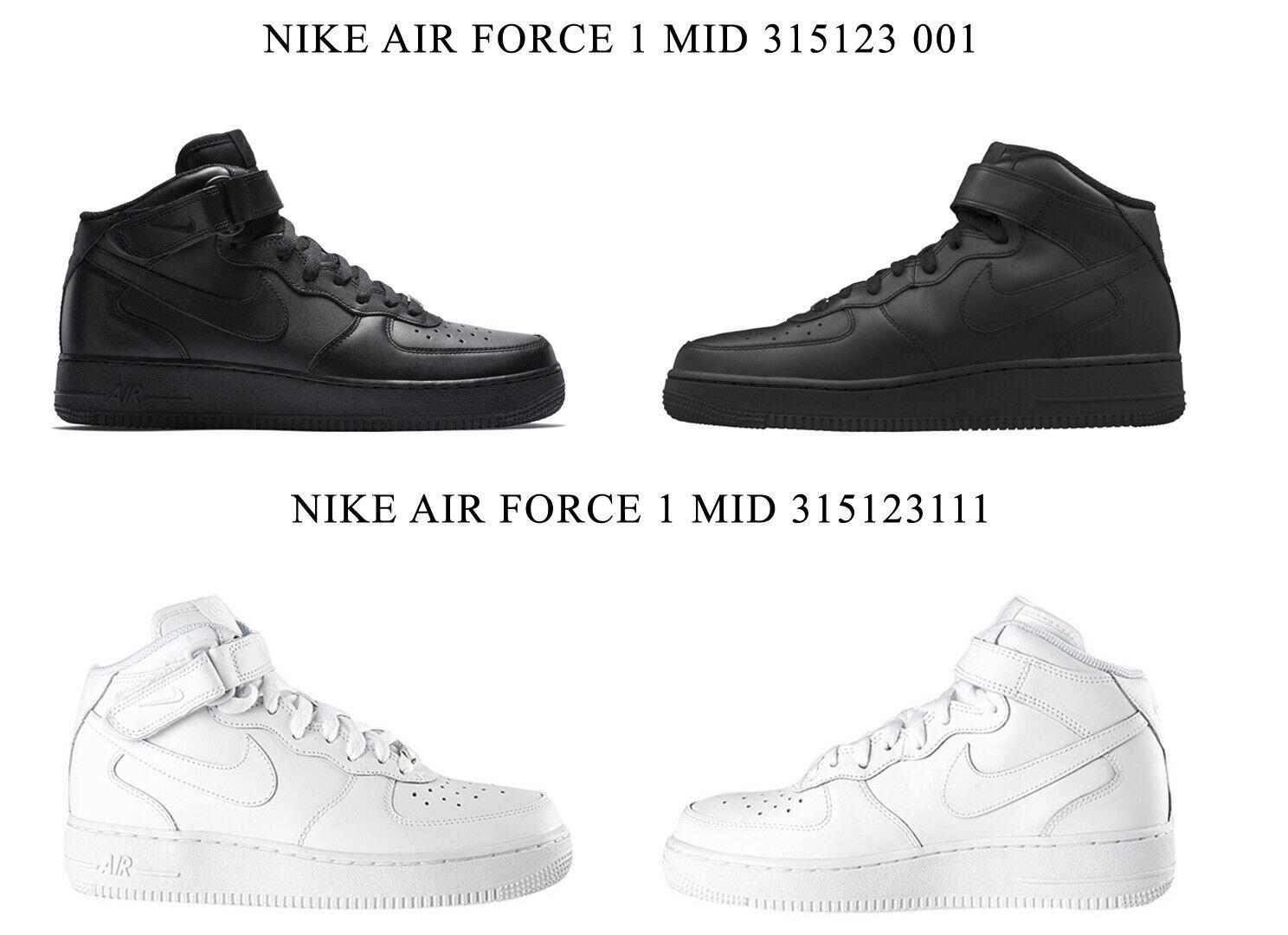 Nike Air Force 1 Mid 315, 123 001   315, 123 111 hombresschehe altot gr.
