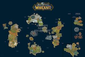 Rgc Huge Poster World Of Warcraft World Map Wow Pc Ext185