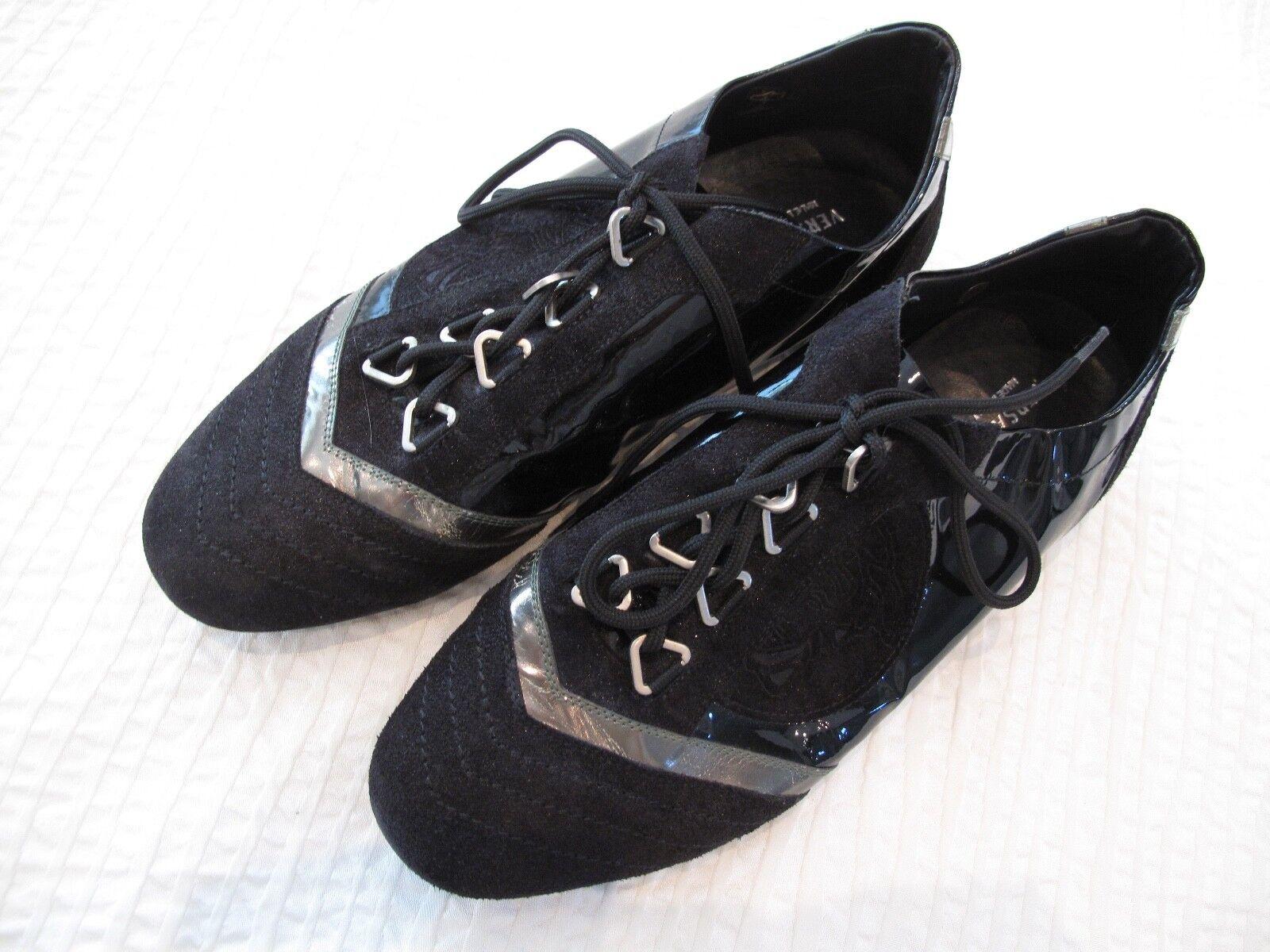 Original Versace Damen Sneaker Schuhe Echt Leder schwarz Gr 38 Top Zustand