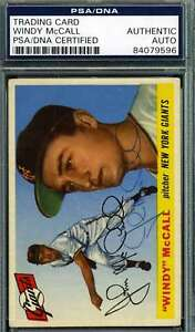 Windy-Mccall-1955-Topps-Psa-Dna-Coa-Autograph-Authentic-Hand-Signed