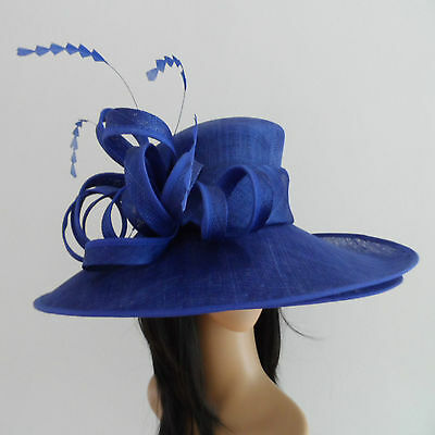 FAILSWORTH COBALT BLUE WEDDING HAT FORMAL OCCASION  FORMAL MOTHER OF THE BRIDE