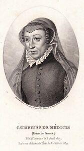 Portrait XIXe Catherine de Médicis Caterina Maria Romola di Lorenzo de' Medici