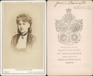 Reutlinger-Paris-actrice-a-identifier-Vintage-CDV-albumen-carte-de-visite