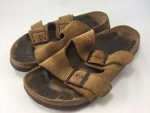 Détails sur Birkenstock Betula Diapositive Sandale mules chaussures 30 Marron Clair Daim afficher le titre d'origine