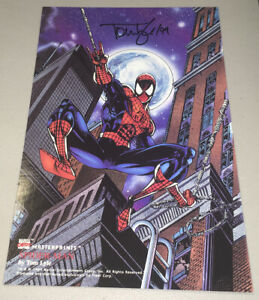 1994 SPIDER-MAN Marvel MasterPrints Promo Print Signed Tom Lyle