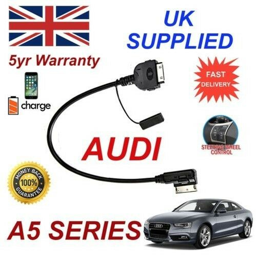For AUDI A5 4F0051510K iPhone 3gs 4 4s & & most iPods 2009+ AMI MMI audio cable