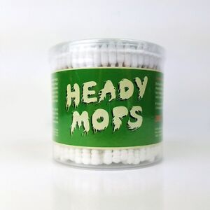 Heady Mops Cotton Swabs Double Tip 300 Ct US Seller New Improved Glob Tech