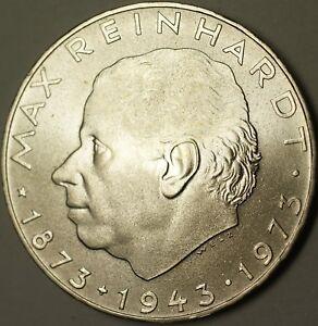1977-Austria-25-Schillings-Max-Reinhardt-Brilliant-Uncirculated-Silver-Coin