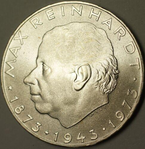 1977 Austria 25 Schillings Max Reinhardt Brilliant Uncirculated Silver Coin