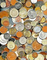 50 World Foreign Coins, An Excellent Assortment Including Larger Heavier Coins