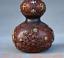 8-034-Vieille-Chine-rouge-Cuivre-Dore-prune-fleur-Bambou-Fleur-Gourdes-Vase miniature 9