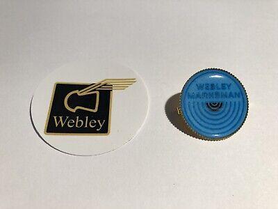 Retro Webley Marksman Air guns   Gold Plated Badge /& Free Cell Sticker.