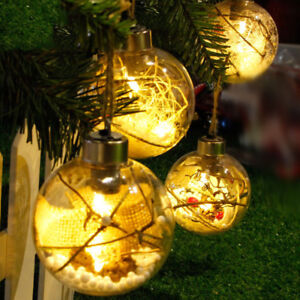 Christmas tree led transparent ball light hanging ornaments party image is loading christmas tree led transparent ball light hanging ornaments junglespirit Images