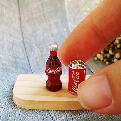 12 bottle coke coca cola and tray dollhouse miniature soda beverage barbie doll