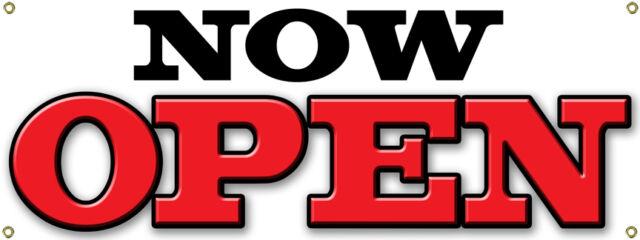 custom grand opening banner sign business now open shop ebay