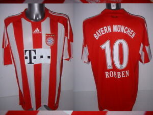 timeless design fd49d 2c337 Details about Bayern Munich Shirt 10 Robben Jersey Trikot Adidas XL  Football Soccer Holland