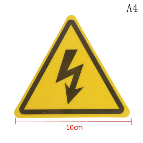 2PCS Danger High Voltage Electric Warning Safety Label Sign Decal Sticker sa