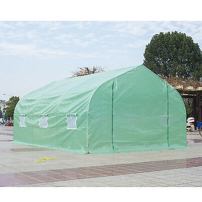 Outsunny 15 x 10ft Walk-in Greenhouse Plant Tunnel PE Cover Plant Grow Tent