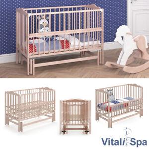 Vitalispa Babybett Konni 120x60 Babywiege Natur Bett Beistellbett Wiegefunktion Ebay
