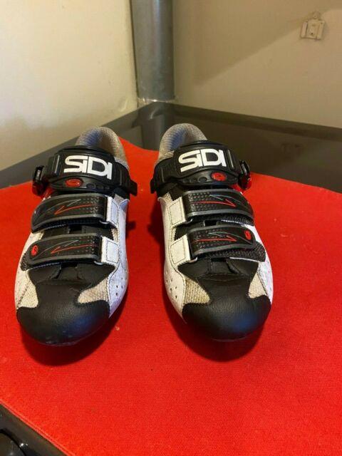 Sidi Genius 7 Carbon Road Cycling Shoes White Black Red Size 43.5 EU
