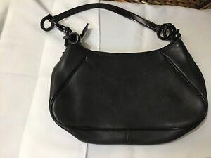 8d1650e8656d Salvatore Ferragamo hand bag Black leather AU-21 4822 authentic ...