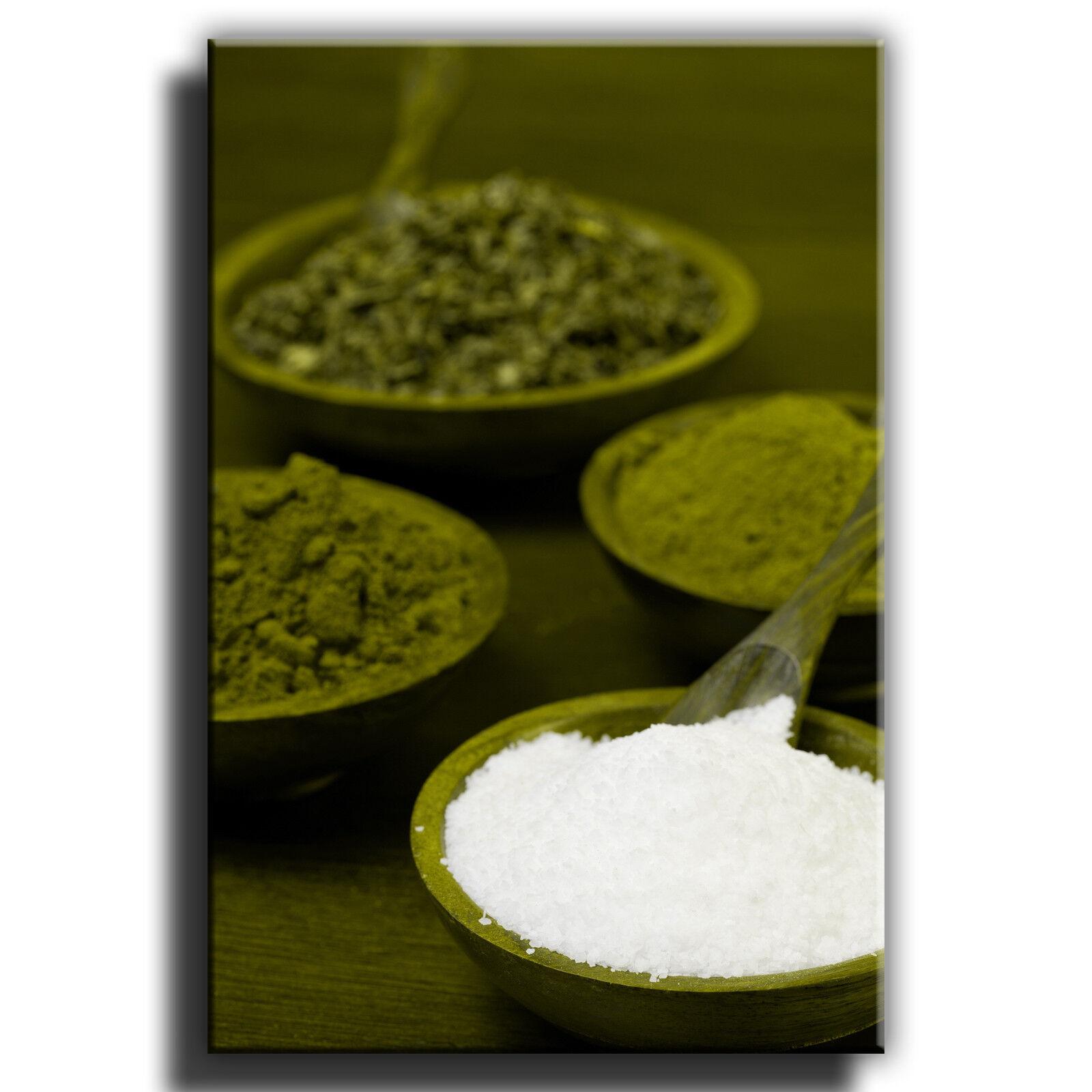Indian, épices pots Toile Art Imprimé Imprimé Art Boîte Encadrée Photo 3 1716f4