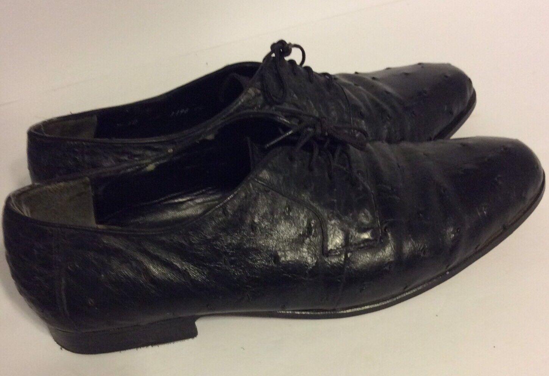 migliore vendita CALCATERRA MEN'S EXOTIC OSTRICH DRESS OXFORD scarpe scarpe scarpe nero SZ 10  economico online