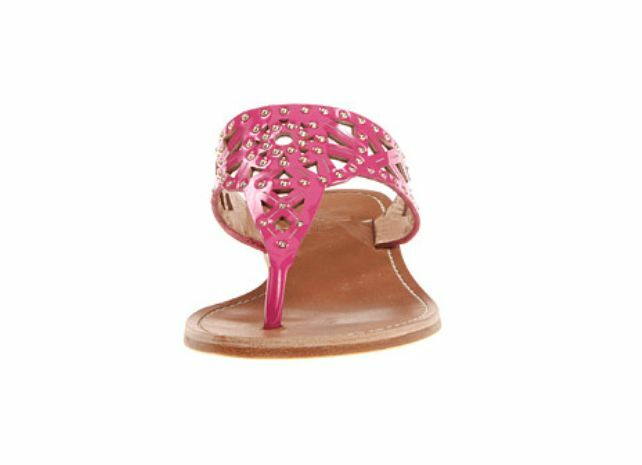 BELLE by Sigerson  Morrison Pink Riko Sandales Studded Cutout Leder Thong Sandales Riko 7.5 6a9771