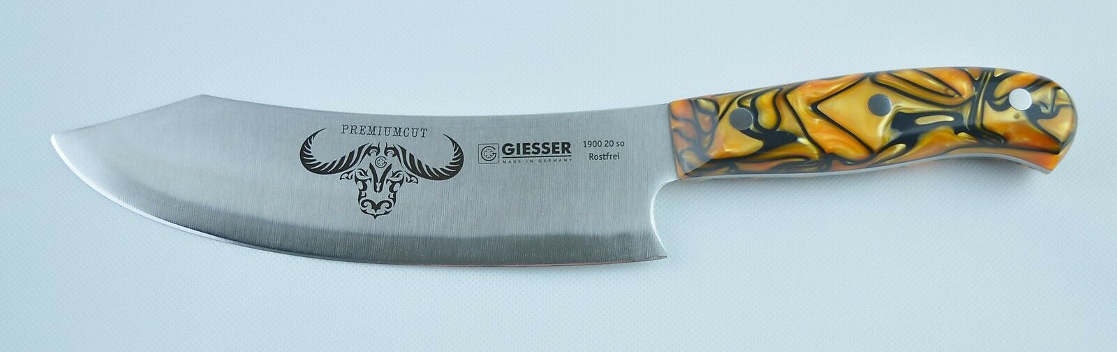 Giesser Messer PremiumCut Chefs No. 1 SPICY Orange 20 cm BBQ