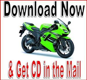 Kawasaki Zx 6r Ninja Service Repair Manual Zx6r Zx 600 Maintenance 2005 To 2008 Ebay