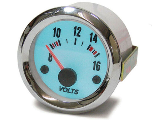 Volts affichage Voltmètre Instrument supplémentaire 52 mm plasma bleu