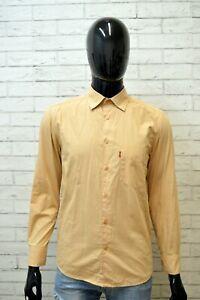 LEVI-039-S-Uomo-Camicia-Camicetta-Maglia-Taglia-S-Regular-Shirt-Manica-Lunga-Cotone